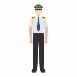 flight, job, man, occupation, pilot, plane, profession icon