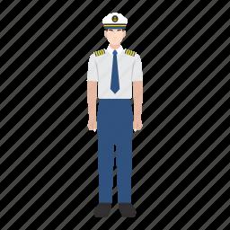 captain, job, man, occupation, profession, ship, transportation icon