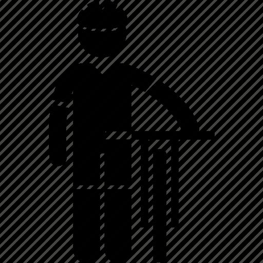 athlete, bicycle, clothing, cyclist, sports, uniform, wear icon