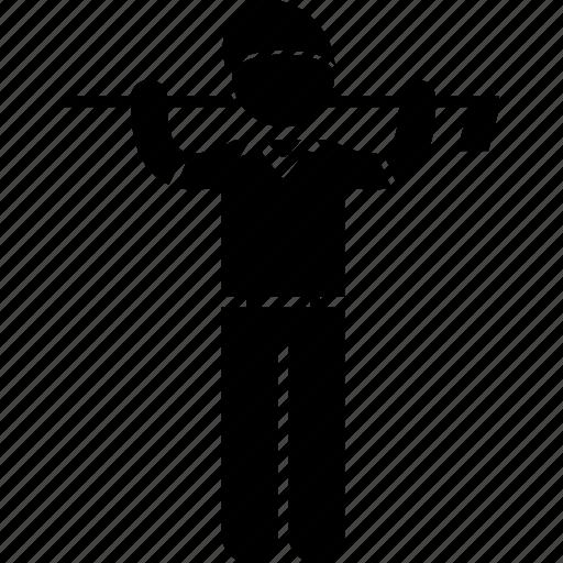 athlete, clothing, club, golf, sports, uniform, wear icon