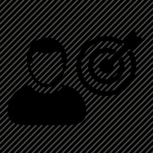 Bullseye, dartboard, man icon - Download on Iconfinder