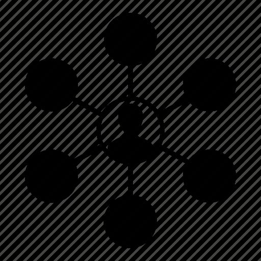 network, profile, share icon