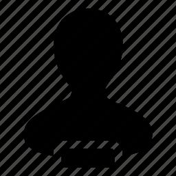 account, admin, human, person, remove, user icon