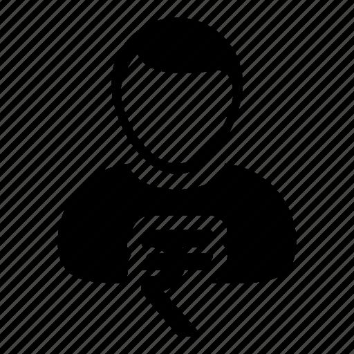 avatar, money, rupee icon