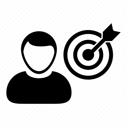 bullseye, business, dartboard, goal, marketing, person, target icon