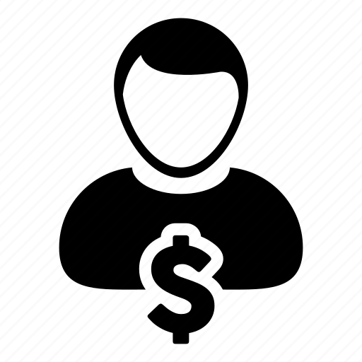 avatar, dollar, money icon