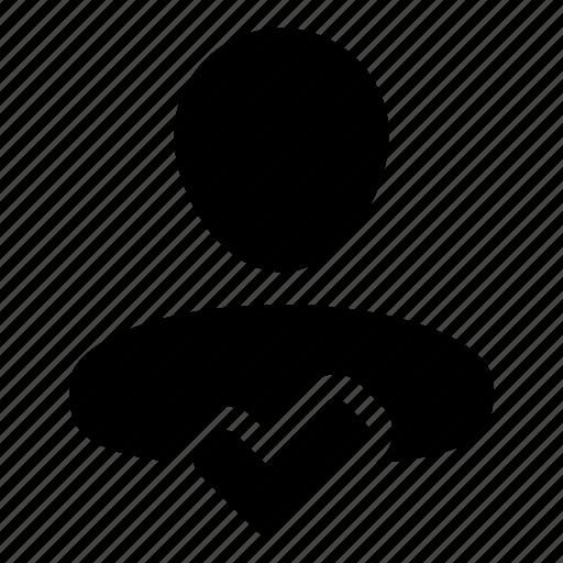 accept, approve, check, person, tick, user icon