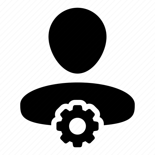 cog, configuration, gear, human, settings, user icon