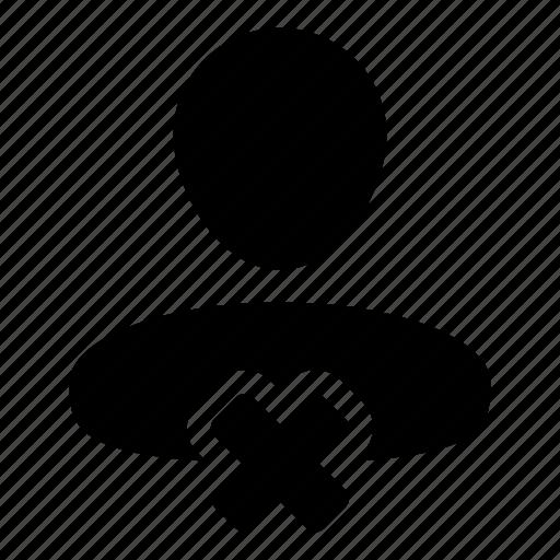 avatar, close, delete, remove, user icon