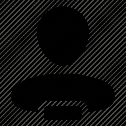admin, human, minus, person, remove, user icon