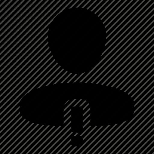 admin, alert, human, person, user, warning icon
