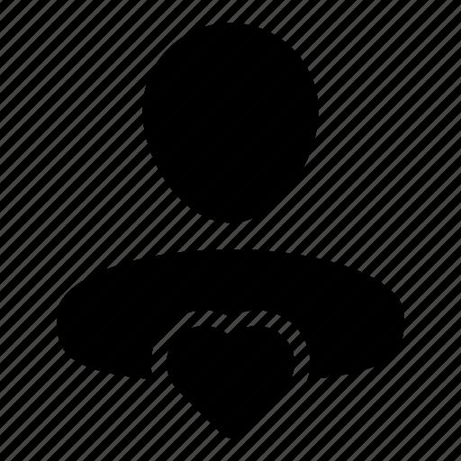 favorite, health, heart, man, person, user icon