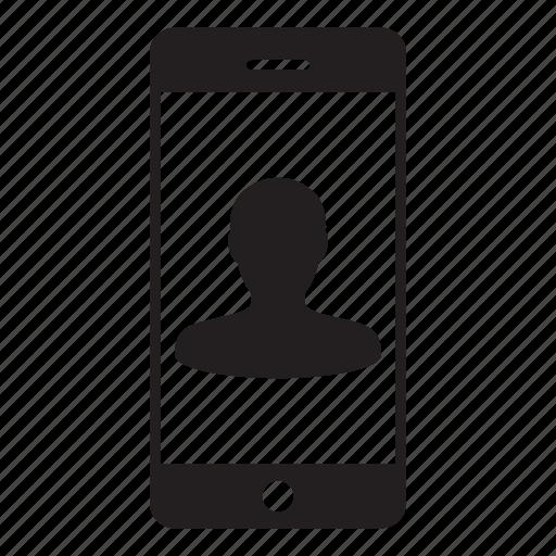 avatar, human, man, mobile, person, profile, user icon