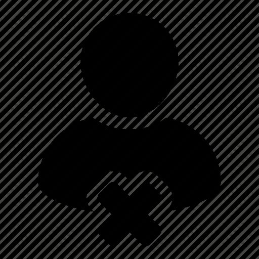 admin, close, delete, human, person, user icon