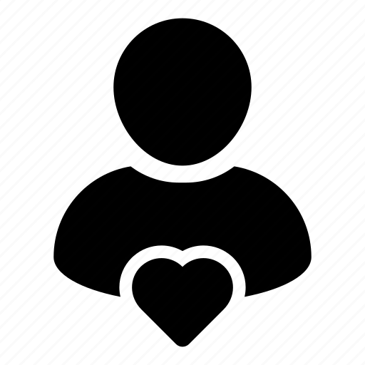 favorite, health, heart, human, person, user icon