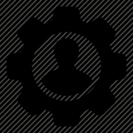 admin, avatar, cog, gear, person, settings, user icon