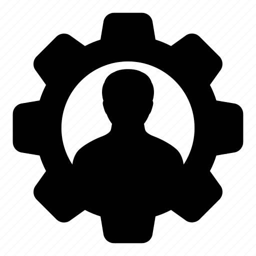 admin, avatar, cog, gear, man, person, user icon