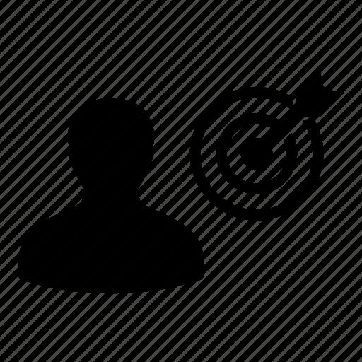 Bullseye, business, dartboard, goal, man, person, target icon - Download on Iconfinder