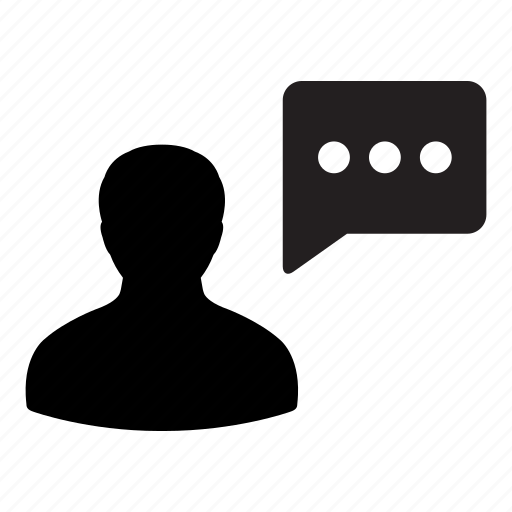 bubble, chat, message, person, speaking, speech, talking icon