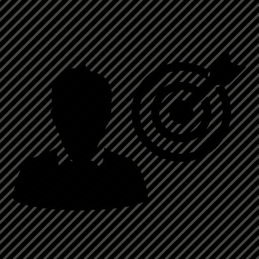 bullseye, business, dartboard, goal, male, man, target icon