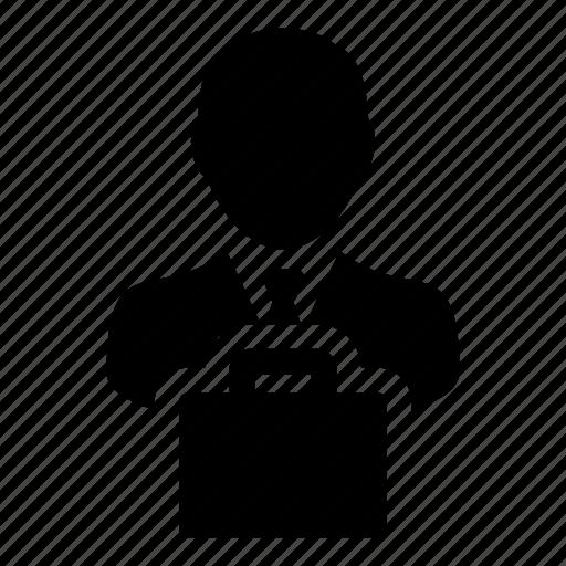 avatar, bag, briefcase, business, man, person, shopping icon