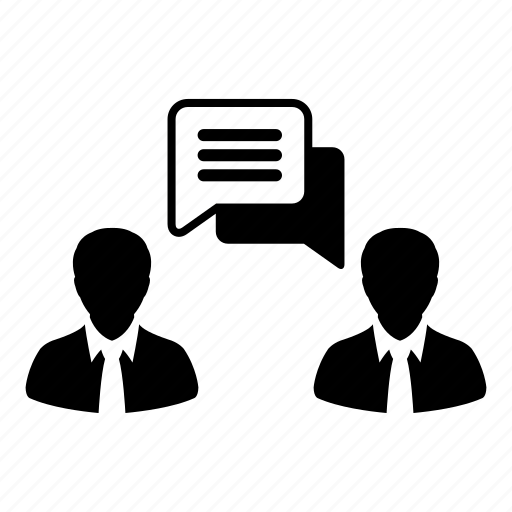 bubble, businessman, chating, message, people, speech, talking icon