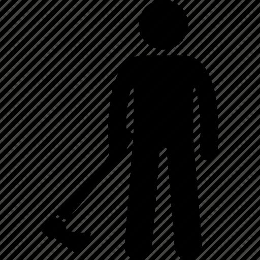 axe, dangerous, holding, killer, man, person, weapon icon