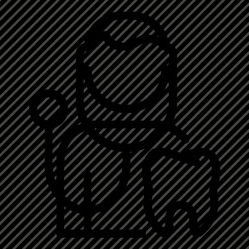 avatar, dentist, man, profession, user, worker icon