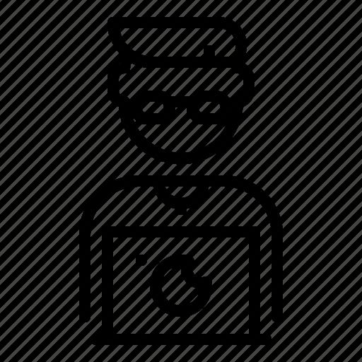 avatar, developer, man, programmer, software, web, worker icon