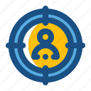 arrow, bulls, eye, goal, shooting, target icon