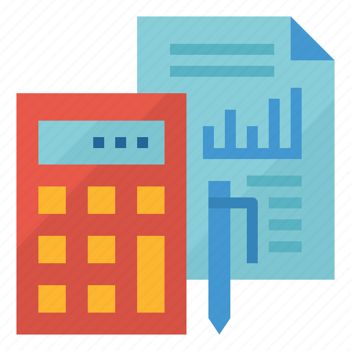 business, calculate, finance, report icon