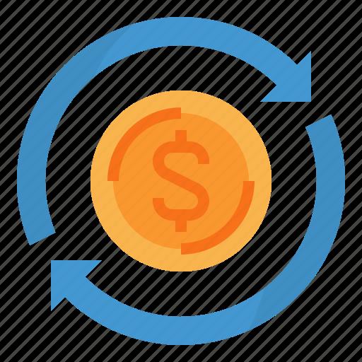 finance, investment, money, profit, turnover icon