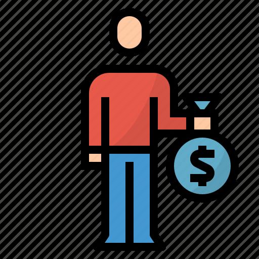 Customer, deposit, investment, money icon - Download on Iconfinder