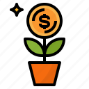 dollar, income, investment, money icon