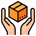 package, packaging, product, production icon