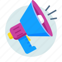 promotion, advertising, marketing, megaphone, sale