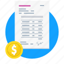 finance, invoice, money, payment icon