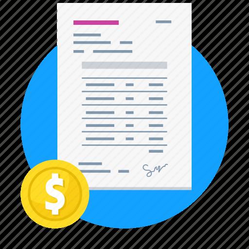 finance, invoice, money, payment icon