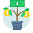 growth, money, plant, tree, business, finance