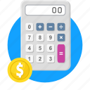accounting, budget, calculation, calculator, financial, math icon