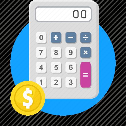 accounting, budget, calculation, calculator, financial, math icon