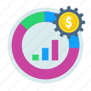 accounting, analysis, analytics, graph, money management icon