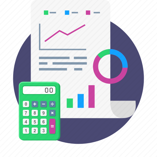 budget, business, calculation, finance, graph, report icon