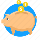 bank, cash, discount, money, piggy, save money icon