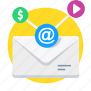 communication, email, email marketing, letter, mail, message icon