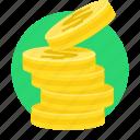cash, coin, dollar, financial market, growth, money icon
