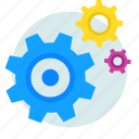 content management, gear, options, setting, settings icon