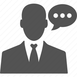 account, avatar, businessman, chat, manager, talk, user icon