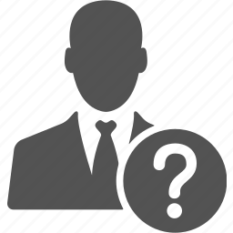 ask, avatar, businessman, help, manager, question icon