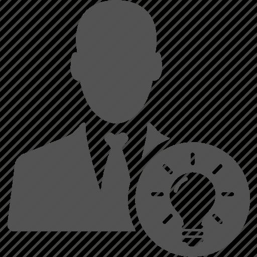 account, avatar, businessman, idea, manager, user icon